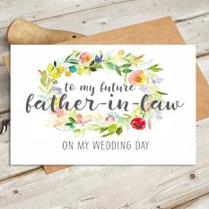 Hampers and Gifts to the UK - Send the Watercolour - Future Father In Law Wedding Card