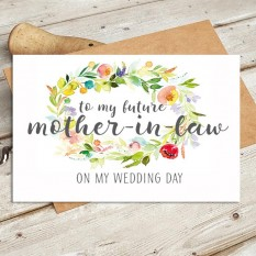 Hampers and Gifts to the UK - Send the Watercolour - Future Mother In Law Wedding Card