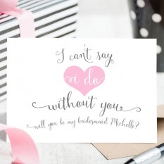 Hampers and Gifts to the UK - Send the Wishes - Can't Say I Do Without You Wedding Card - Personalised