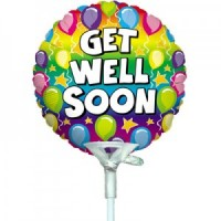 "Get Well Soon Balloon 9"" +£2.99"