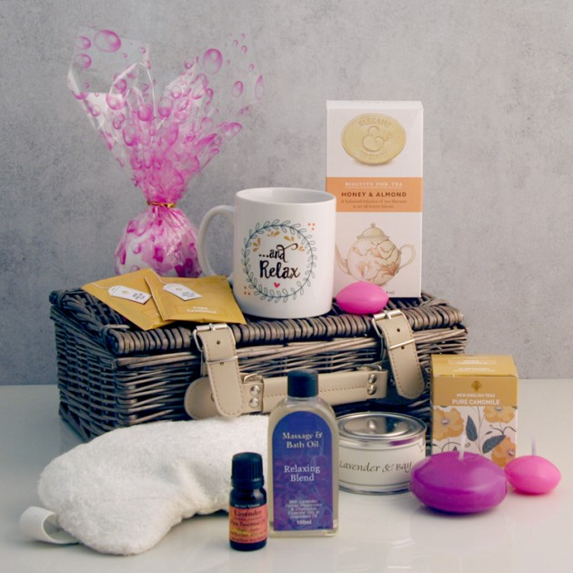 Hampers and Gifts to the UK - Send the And Relax Luxury Aromatherapy Gift Basket