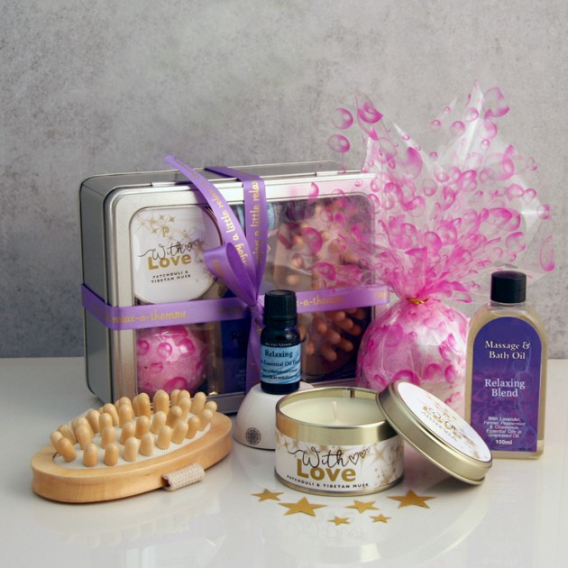 Hampers and Gifts to the UK - Send the With Love Aromatherapy Gift Tin