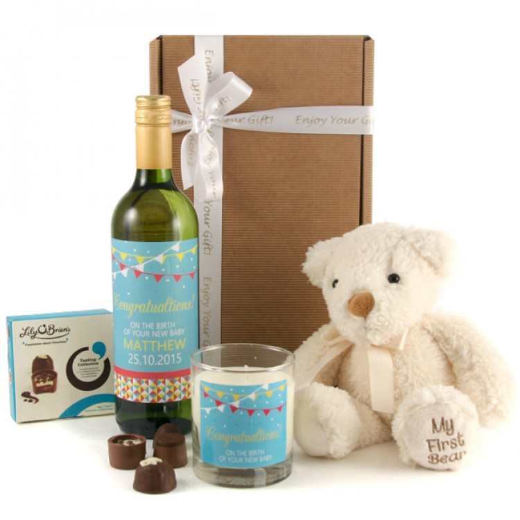 New Baby Gift Sets Uk : Personalised new baby gift set for and parents