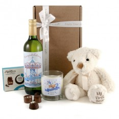 Hampers and Gifts to the UK - Send the New Baby Boy Gift Set Merry Go Round