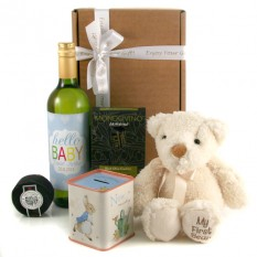 Hampers and Gifts to the UK - Send the Hello Baby Boy Gift Set Personalised