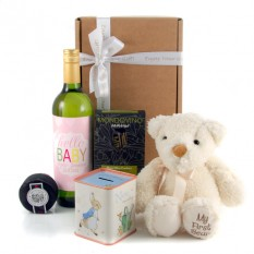 Hampers and Gifts to the UK - Send the Hello Baby Girl Gift Set Personalised