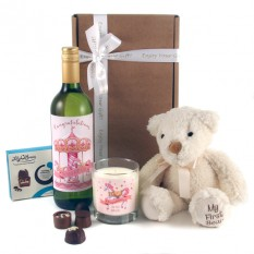 Hampers and Gifts to the UK - Send the New Baby Girl Gift Set Merry Go Round
