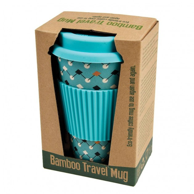 Hampers and Gifts to the UK - Send the Bamboo Travel Mug - Atomic Blue