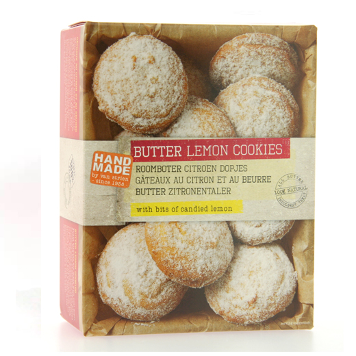 Hampers and Gifts to the UK - Send the Hand Made Butter Lemon Cookies by Van Strien