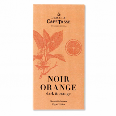 Hampers and Gifts to the UK - Send the Café-Tasse Noir Orange Chocolate Bar