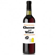 Hampers and Gifts to the UK - Send the Birthday Wine Bottle - Cheese and Wine