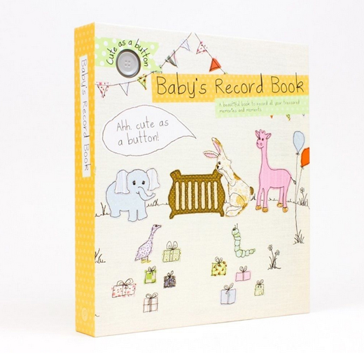 Hampers and Gifts to the UK - Send the Cute as a Button Baby's Record Book