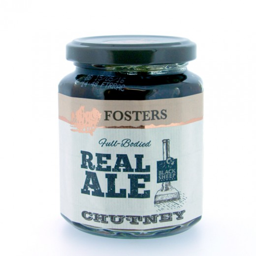 Hampers and Gifts to the UK - Send the * OUT OF STOCK * - Fosters Black Sheep Real Ale Chutney