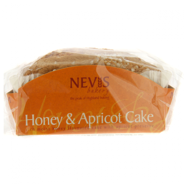 Hampers and Gifts to the UK - Send the Nevis Honey and Apricot Cake - 300g
