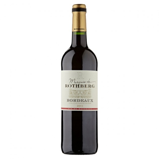 Hampers and Gifts to the UK - Send the Marquis de Rothberg Bordeaux - 75cl