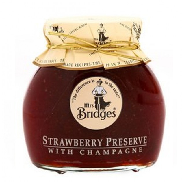 Hampers and Gifts to the UK - Send the Mrs Bridges Strawberry and Champagne Preserve