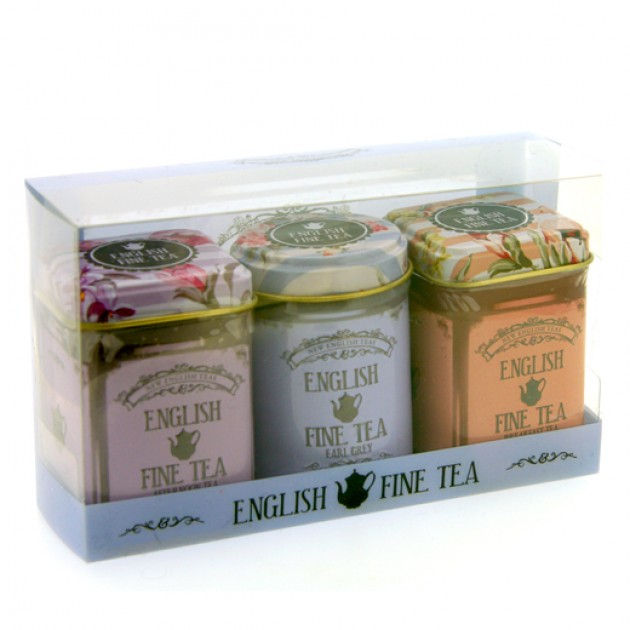 Hampers and Gifts to the UK - Send the New English Teas Fine Tea Triple Gift Pack