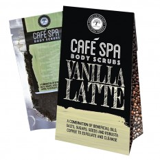 Hampers and Gifts to the UK - Send the  Café Spa Body Scrub - Vanilla Latte