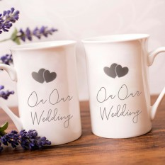 Hampers and Gifts to the UK - Send the On Our Wedding Day Mug Set