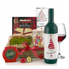 Hampers and Gifts to the UK - Send the Christmas Spirit Wine and Food Hamper
