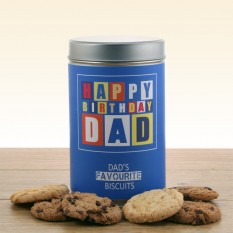 Hampers and Gifts to the UK - Send the Gift In A Tin - Dad's Favourite Biscuits