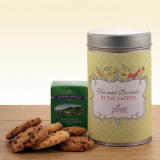 Gift In A Tin - Tea and Biscuits In The Garden