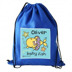 Hampers and Gifts to the UK - Send the Personalised Bang On The Door Baby Fish Boys Swim bag