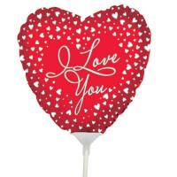 "I Love You Heart Balloon 9"" +£2.99"
