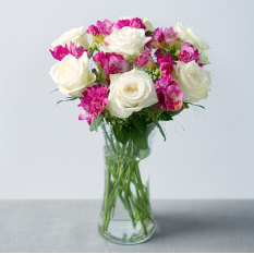 Hampers and Gifts to the UK - Send the Roses and Freesia Flowers