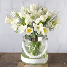 Hampers and Gifts to the UK - Send the Winter Tulips and Freesias