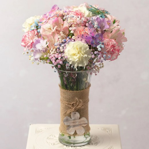 Hampers and Gifts to the UK - Send the Rainbow Butterfly Flowers