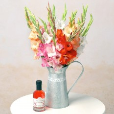 Hampers and Gifts to the UK - Send the Gladioli and Gin Gift Set Surprise