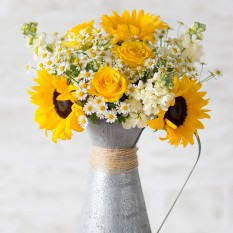 Hampers and Gifts to the UK - Send the Summer Glow Bouquet