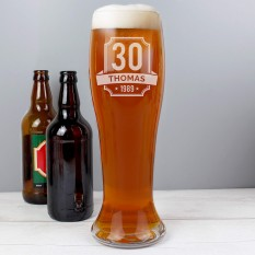 Hampers and Gifts to the UK - Send the Personalised Birthday Giant Pint Glass