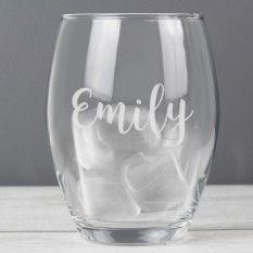 Hampers and Gifts to the UK - Send the Personalised Name Stemless Glass