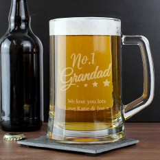 Hampers and Gifts to the UK - Send the Personalised No.1 Grandad Tankard Glass