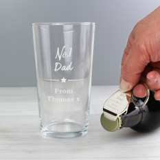 Hampers and Gifts to the UK - Send the Personalised No.1 Pint Glass Bottle Opener Set