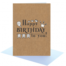 Hampers and Gifts to the UK - Send the Happy Birthday Jester Style Greeting Card