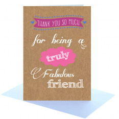 Hampers and Gifts to the UK - Send the Fabulous Friend Greeting Card