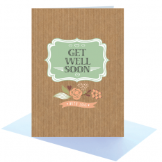 Hampers and Gifts to the UK - Send the Get Well Soon Greeting Card