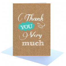 Hampers and Gifts to the UK - Send the Thank You Very Much Greeting Card