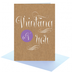 Hampers and Gifts to the UK - Send the Thinking of You Greeting Card