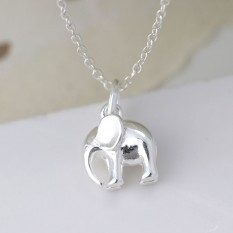 Hampers and Gifts to the UK - Send the Sterling Silver Elephant Necklace