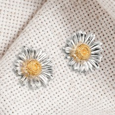 Hampers and Gifts to the UK - Send the  Sterling Silver Daisy Stud Earrings