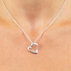 Hampers and Gifts to the UK - Send the Sterling Silver Layered Heart Necklace
