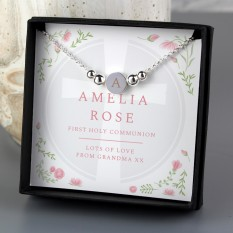 Hampers and Gifts to the UK - Send the Personalised Floral Religious Disc Necklace Gift