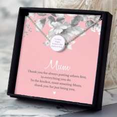 Hampers and Gifts to the UK - Send the Personalised Thank You Mum Sentiment Necklace Gift