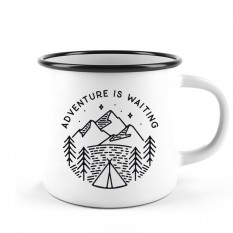 Hampers and Gifts to the UK - Send the Adventure is Wating Camping Mug