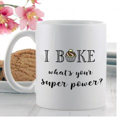 Hampers and Gifts to the UK - Send the I Bake Super Power Mug