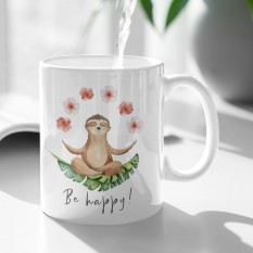 Hampers and Gifts to the UK - Send the Be Happy Sloth Mug